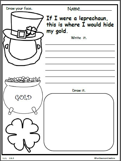 If I Were A Leprechaun Writing Activity