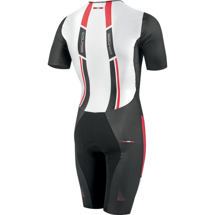 Louis Garneau top of the line and top rated Course Tri Suit Short-Sleeved, back view.