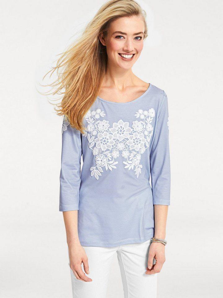 cbc4f3d6a1a33a heine CASUAL Shirt modischer Floraldruck