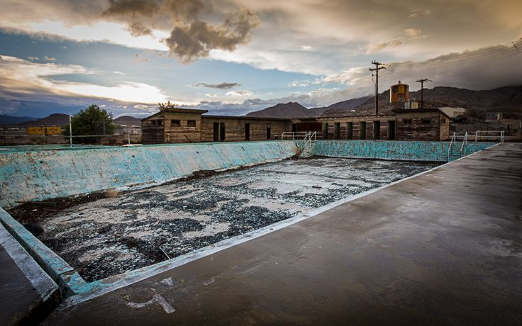 abandoned municipal pool at the Wendover Air Force Base in ...