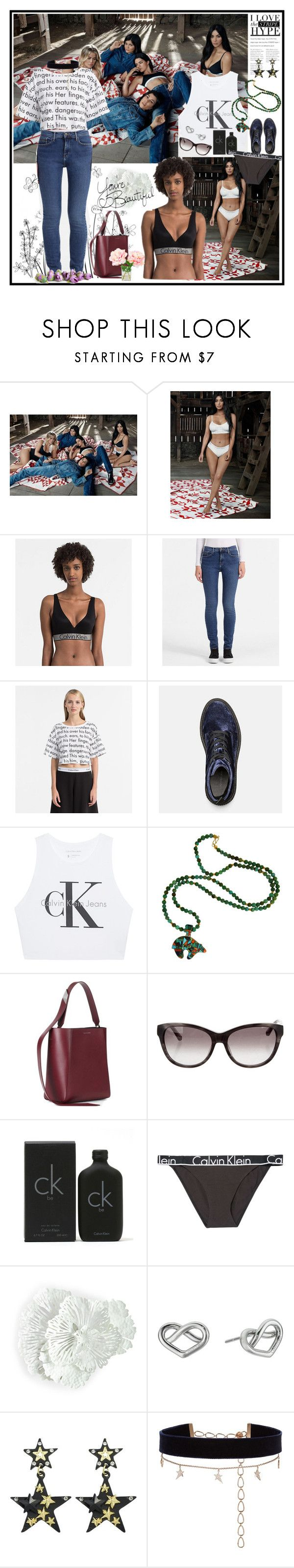 """""""Saturday with Calvin"""" by lizart ❤ liked on Polyvore featuring Calvin Klein Jeans, Calvin Klein 205W39NYC, Calvin Klein Collection, Calvin Klein, Calvin Klein Underwear, WALL, Diane Kordas, kendall, kendalljenner and Kylie"""