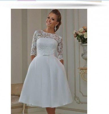 Vestidos De Novia Sencillos Para Matrimonio Civil Cortos Para largo con Vestidos De Novia Sencillos - Vestido de novia de la foto