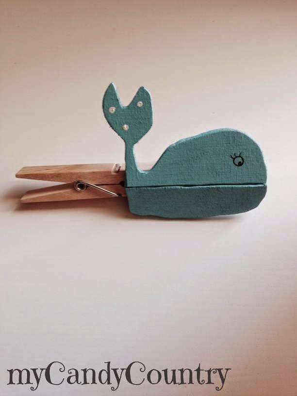 Idea creativa per creare mollette di legno decorate