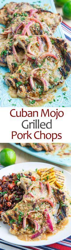Cuban Mojo Grilled Pork Chops