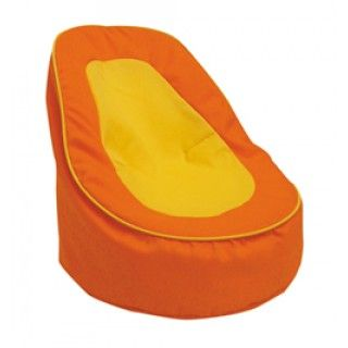 Bean Bag Chair  When Alexi relaxes in her room, she likes to sit in her funky orange and yellow bean bag chair. Comfortably settled with Chapta sleeping on her lap, she comes up with some of her best inventions.