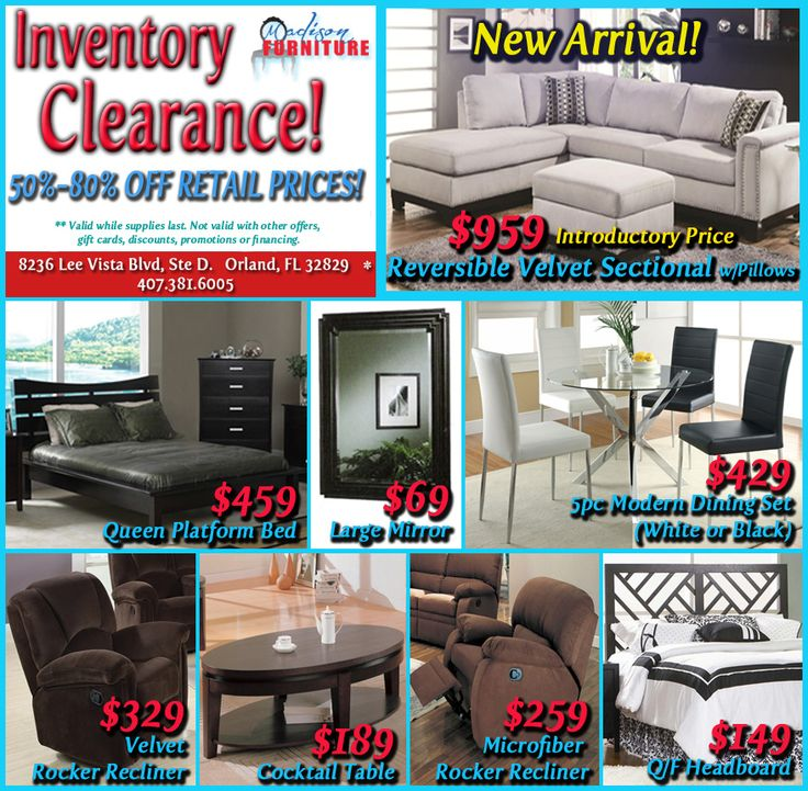 Madison Furniture In Orlando, FL Fall Inventory Clearance! Up To 80% OFF!