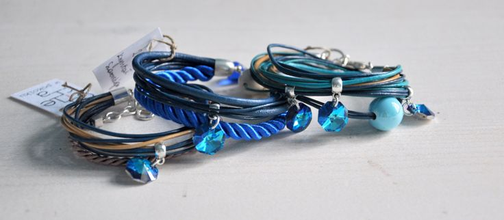 Bracelets with Swarovski crystals. https://www.facebook.com/galeriawpokoiku
