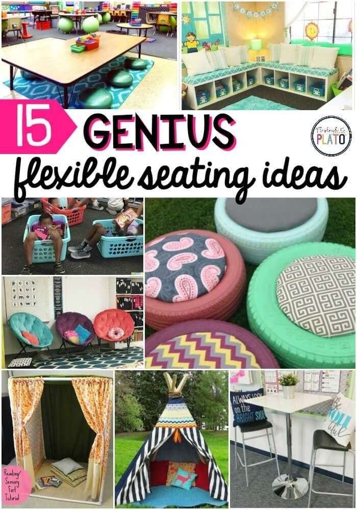 15 genius Flexible Seating Ideas! Awesome inspiration for the flexible seating classrooms when teachers go back to school in the fall!