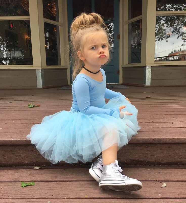 Toddler Halloween ideas. Cinderella. Le Petit Tom. Dolly skirt. Blue tutu. The leotard boutique. @emmy.reese Cinderella birthday. Silver converse. Three year old birthday.