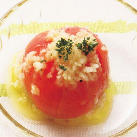 まるごとトマトサラダ   片岡護さんの小鉢の料理レシピ   プロの簡単料理レシピはレタスクラブニュース