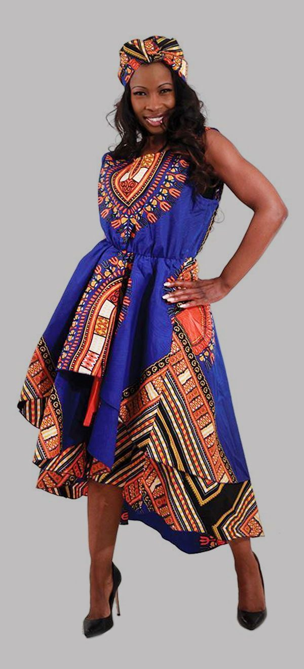 2f36a46fc62 Traditional African Print High Low Dress - This beautiful and bold African  print dress is both comfortable and classy. Bold and bright African print  in red