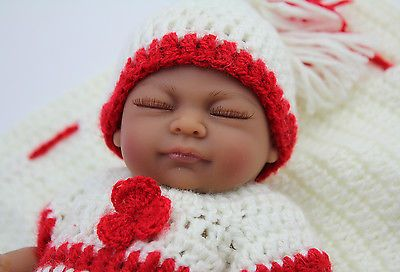 "#Handmade african american baby dolls #reborn #realistic fake baby 10"" vinyl doll,  View more on the LINK: 	http://www.zeppy.io/product/gb/2/191978104059/"
