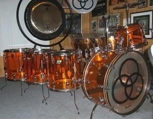 John Bonham's kit-went to my Alma Mater...