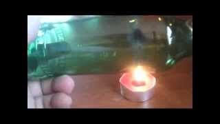 FUOCO ACQUA Taglio vetro,creare un bicchiere da una bottiglia:tutorial - YouTube