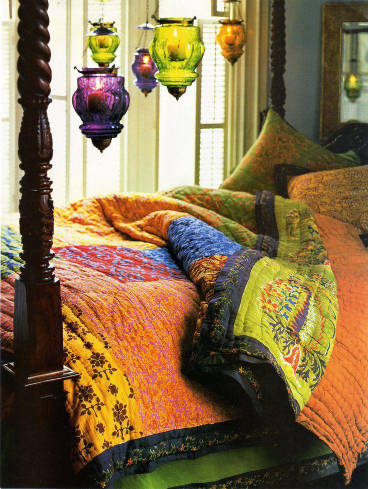 Boho sprei  Make it happen with vintage retro home decor fashion jewelry from www.rubylane.com @rubylanecom #rubylane
