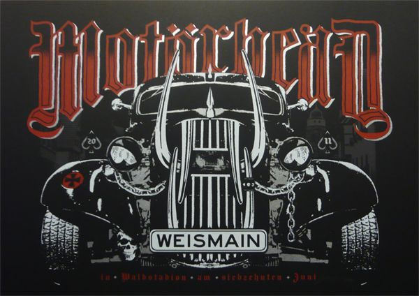 Motorhead Poster (Bavaria, Germany) (via Gigposters)