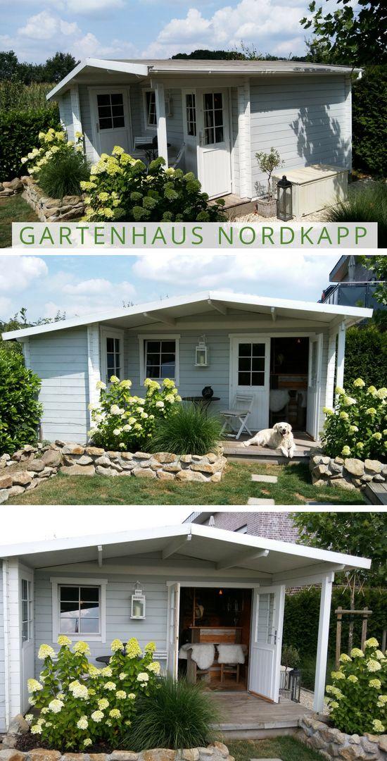 Gartenhaus in Grau Weiß: Gartenhaus Nordkapp