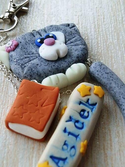Z.U.Z.I.K / Kľúčenka s mačičkou a menom