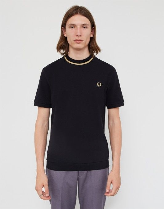Fred Perry Crew Neck Pique T-Shirt Black #StyleMadeEasy