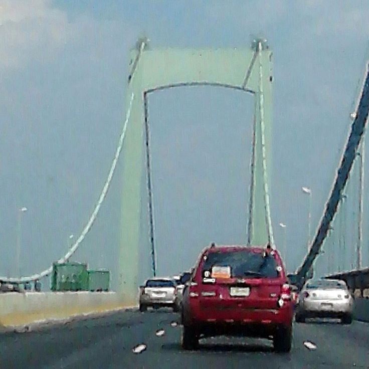 Crossing over the Walt Whitman Bridge from Philadelphia to Gloucester City, New Jersey