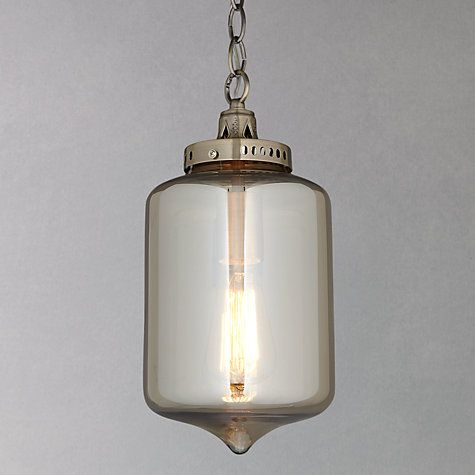Buy John Lewis Christophe Smoked Lantern Pendant Online at johnlewis.com £75 - possible hallway upstairs or in front of the kitchen door