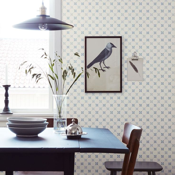 "Gefällt 751 Mal, 8 Kommentare - Boråstapeter (@borastapeter) auf Instagram: ""This trellis print, inspired by the beautiful tiles of the eighteenth century and their perfect…"""