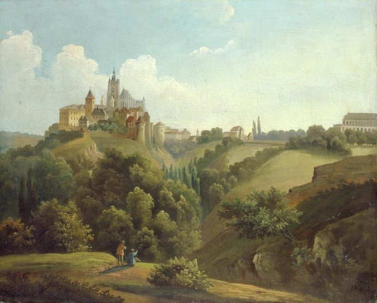 ANTONÍN MÁNES (1784 - 1843) Pohled na Hradčany a letohrádek královny Anny Prague