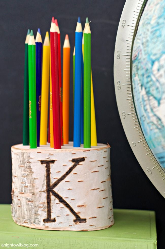 DIY Pencil Holder To Personalize. Although It Is Even Quite Cute Just
