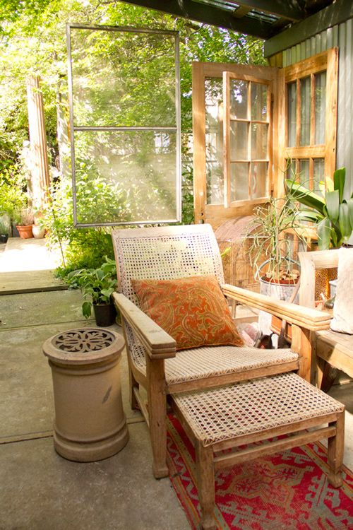 peace and light: Doors Walls Floors Windows, Backyard Nook, Gardens, Apocalyptic Bohemian, Outdoor Area, Chart Greatly, Designsponge, Post Apocalyptic