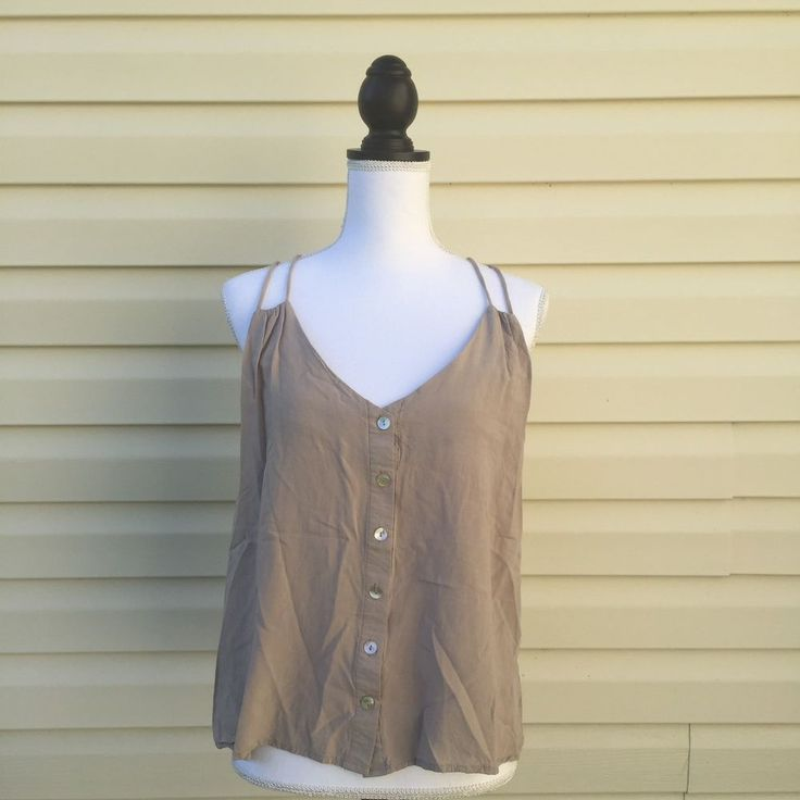 TOBI Sz Small Beige Junior Ladies Women's Racerback Spaghetti Strap Tank Top  | eBay