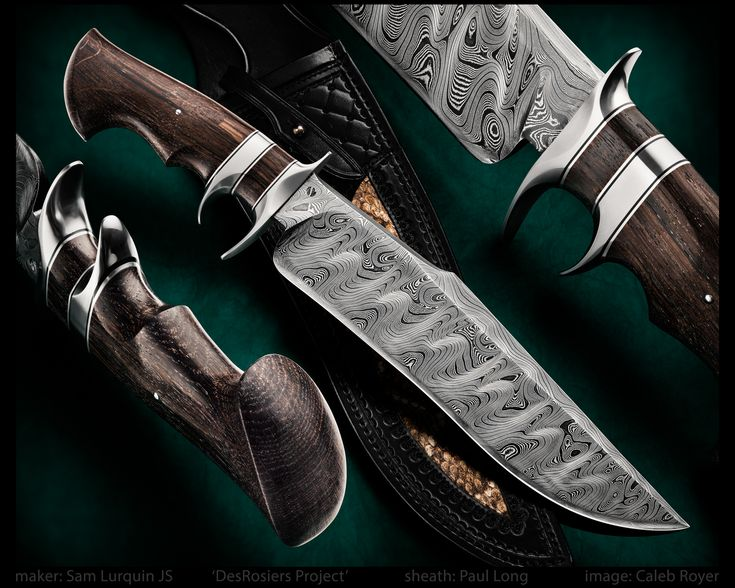 "maker: Sam Lurquin JS 'DesRosiers Project' Tsavo Subhilt Bog Oak handle BadasSam Damascus blade Paul Long sheath with Diamondback Rattlesnake inlay blade length: 10 1/2"" overall length: 15 3/4""  #calebroyerphotography #knife #knifemaking #knives #customknives #handmadeknives #knifecommunity #handmade #knifeart #knifepics #imagecalebroyer #SamLurquin #Belgium #damascussteel #fightingknife #fighter #PaulLong #sheath"