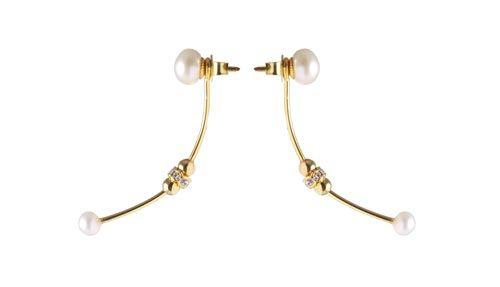 Svævende øreringe med perler