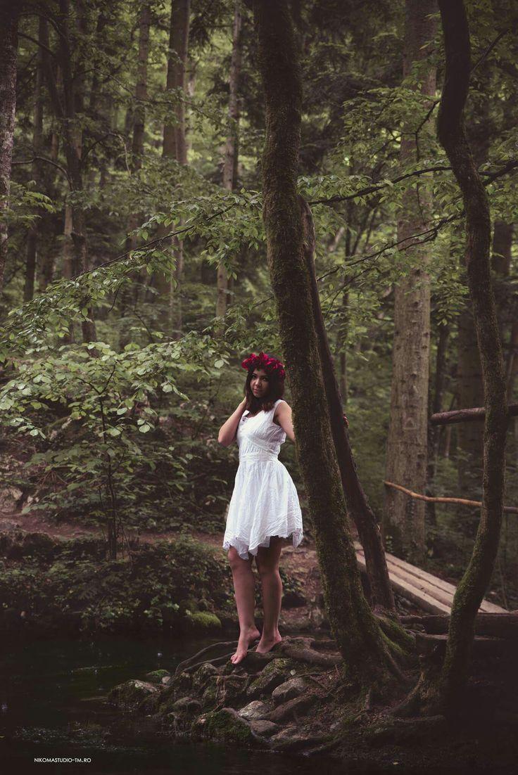 #nature #photoshoot #cutedress #forest #rain #lovethenature