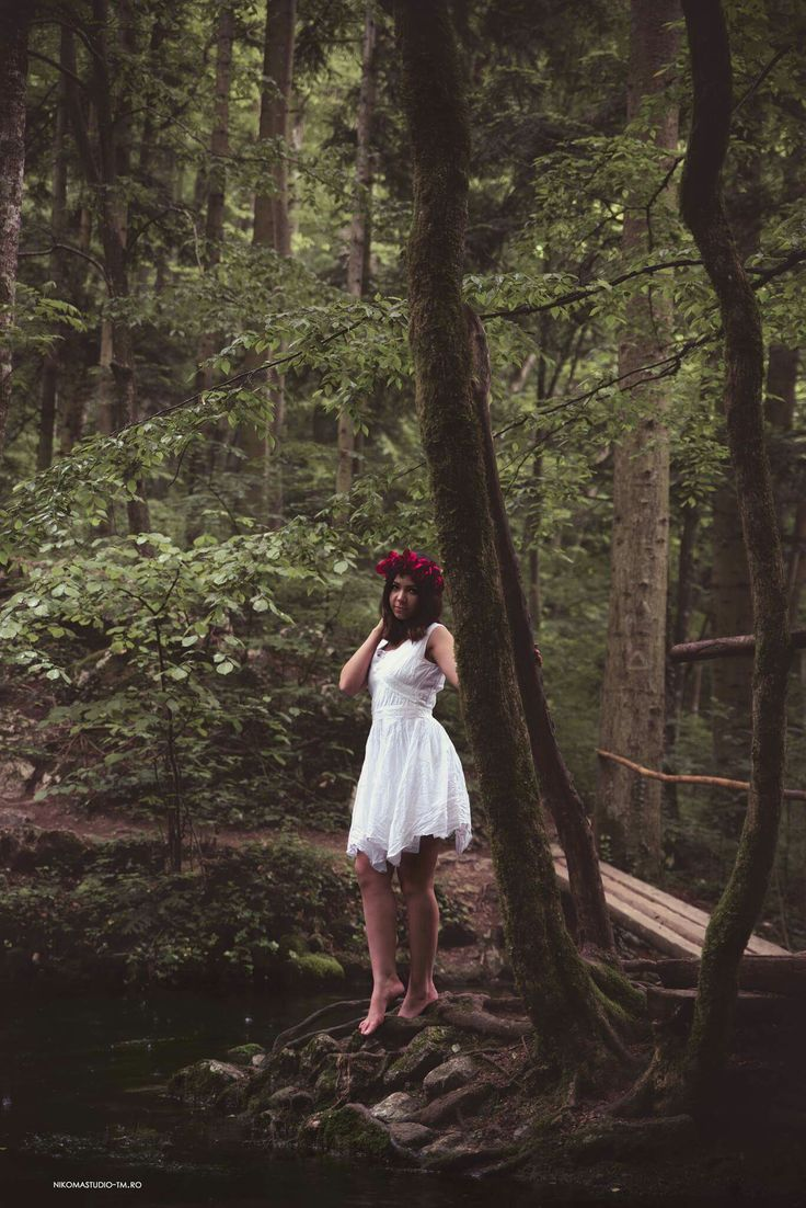 #nature #photoshoot #cutedress #forest #rain #lovethenature