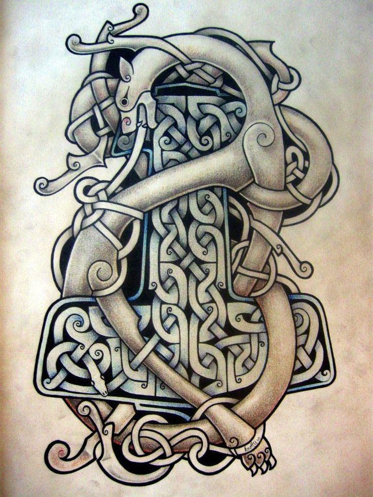 celtic dragon hammer