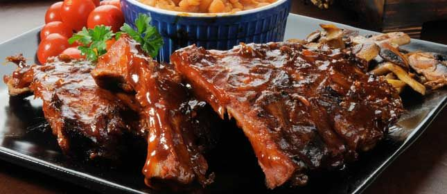 Costillas de cerdo al whisky