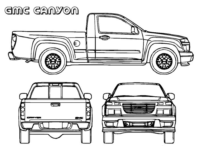 gmc coloring pages sketch coloring page