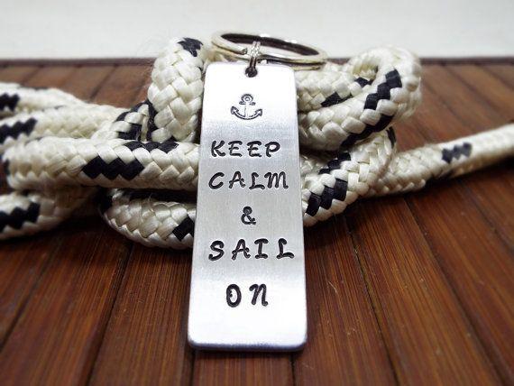 Keep Calm & Sail On Nautical Keychain  FREE by Aluminiopassions