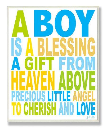 'A Boy is a Blessing ' Wall Art