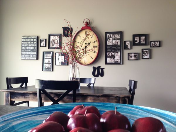 Best Wall Clock Collage Arrangement Ideas Images Pinterest Decorate Walls Living Room