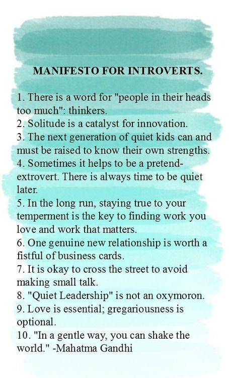 Manifesto for Introverts because it's okay to embrace being one.