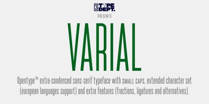 Varial font download