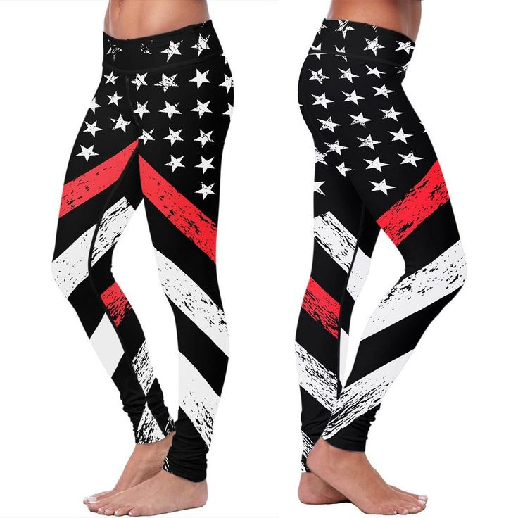 Make sure to measure your body and use the sizing chart provided to order the correct size. Honor the firefighters in your life with these Thin Red Line leggin