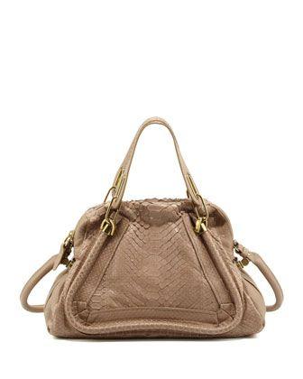 Chloe Paraty Medium Python Shoulder Bag, Sand | Handbags | Pinterest