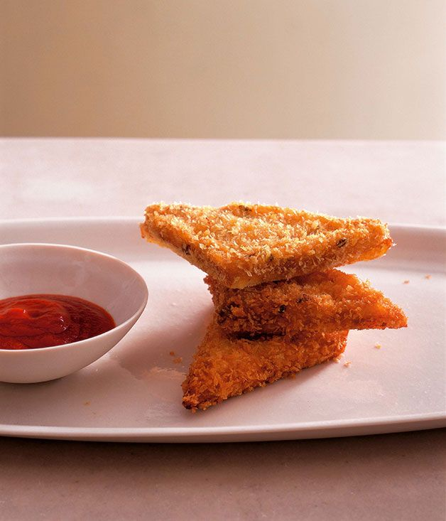 Australian Gourmet Traveller Chinese banquet recipe for Neil Perry's prawn toast.