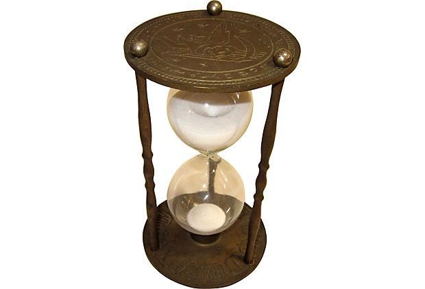 Antique Greek & Roman Zodiac Hourglass