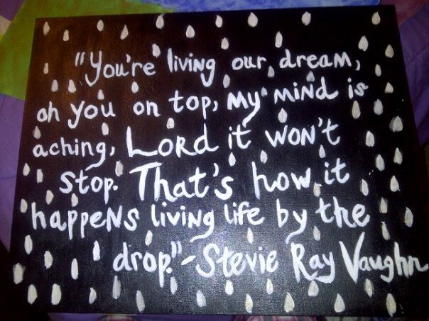 """Life by the Drop"" by Stevie Ray Vaughn"