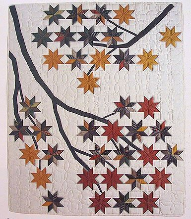 Beautiful collection of quilts, particularly this stunning tree quilt!