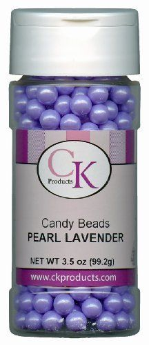 CK Products 7-Mm Candy Beads, Lavender by CK Products Inc. $5.52. Use colorful cany beads to decorate your sugar art projects. Colorful candy beads with chocolate centers can be used to decorate, or just eaten alone.