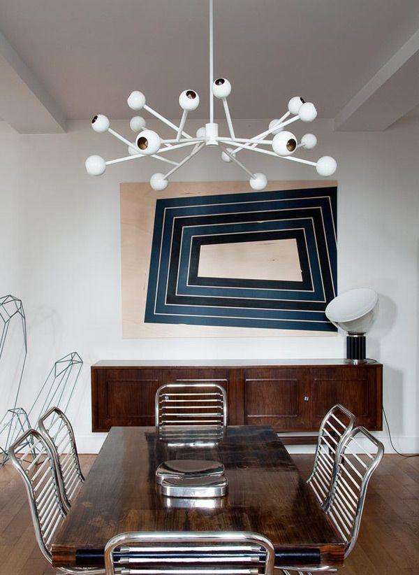 Credenza & Taccia Lamp, Designed by Achille Castiglioni for Flos